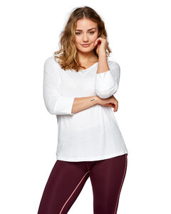 JULIE 3/4 SLEEVE TOP, , hi-res