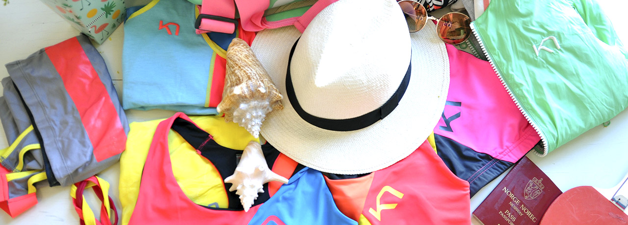 Collection of hats and clothing